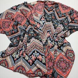 Blushed Medium oversized Bohemian Kimono